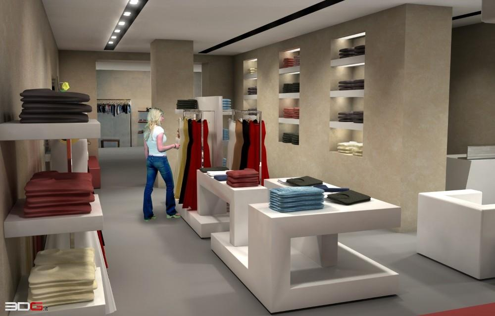 3dg arredamento rendering di interni interior design for Interior design negozi
